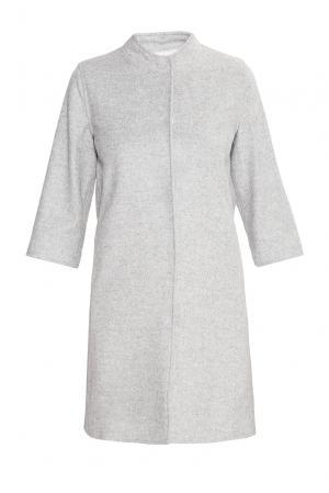 Пальто из шерсти с вискозой 176331 Paola Morena. Цвет: серый