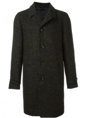 Однобортное пальто Hevo. Цвет: зелёный