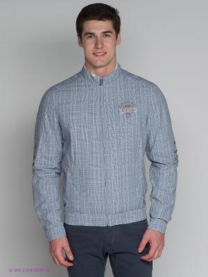 Куртка Finn Flare. Цвет: темно-синий, белый