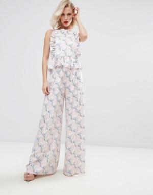 Horrockses Комбинируемые брюки с цветочным принтом. Цвет: мульти
