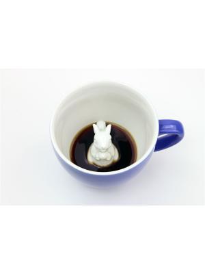 Кружка с Белкой 330мл Creature Cups. Цвет: серо-голубой, голубой