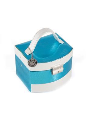 Шкатулка для ювелирных украшений CALVANI. Цвет: бежевый, белый, синий