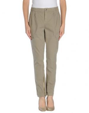 Повседневные брюки RA-RE. Цвет: голубиный серый