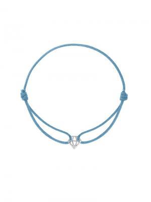 Браслет на нитке Почти Бриллиант KU&KU. Цвет: голубой, серебристый