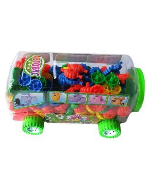 Конструктор в машинке автобус XL Склад Уникальных Товаров. Цвет: зеленый, красный
