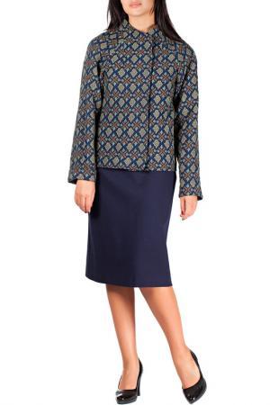 Жакет-платье Mannon. Цвет: сине-зеленый
