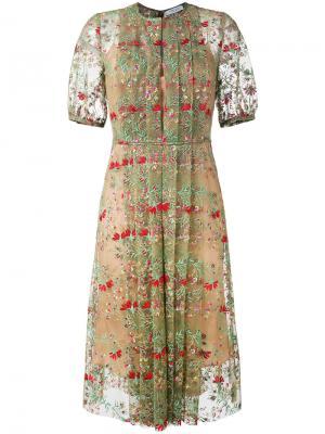 Floral print dress Gabriela Hearst. Цвет: зелёный