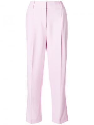Брюки со складками Bottega Veneta. Цвет: розовый и фиолетовый