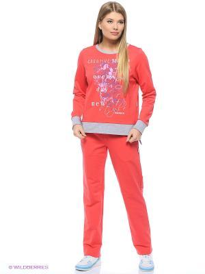 Спортивный костюм Олимпия Runika. Цвет: красный