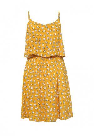 Платье Твое. Цвет: желтый