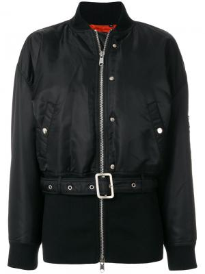 Куртка-бомбер с поясом Opening Ceremony. Цвет: чёрный