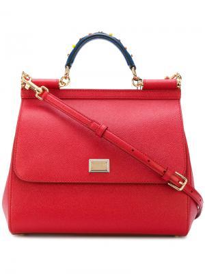 Большая сумка Sicily Dolce & Gabbana. Цвет: красный