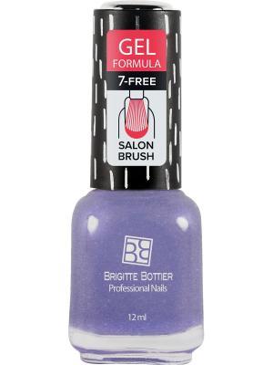 Бриджит Ботье гелевый лак GF тон 69 фиолетовый с блестками, 12 мл Brigitte Bottier. Цвет: фиолетовый