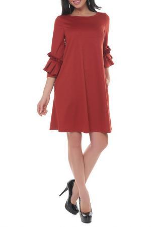 Платье Argent. Цвет: кирпичный