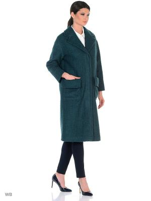 Пальто RUXARA. Цвет: серо-зеленый