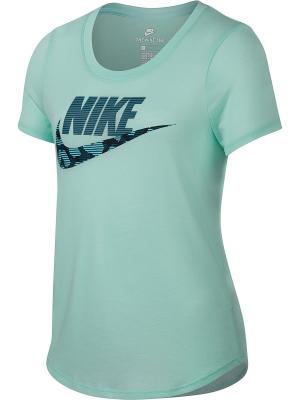 Футболка G NSW TEE TRI SCOOP FUTURA Nike. Цвет: светло-зеленый