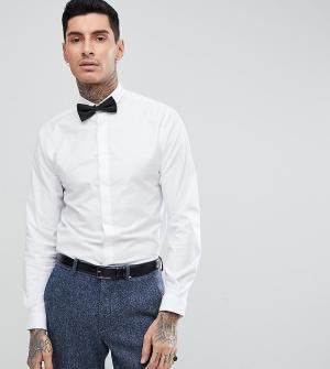 Heart & Dagger Приталенная рубашка и галстук-бабочка. Цвет: белый