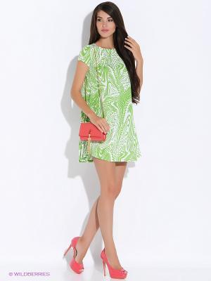 Платье Colambetta. Цвет: зеленый, молочный