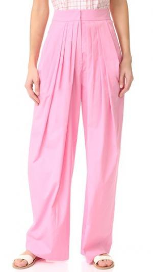 Свободные брюки Vika Gazinskaya. Цвет: бледно-розовый
