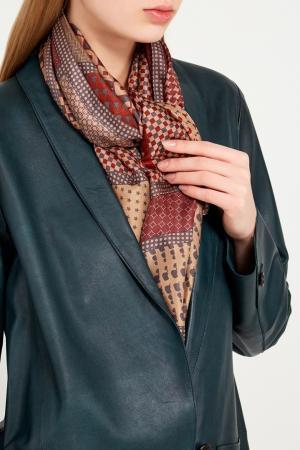 Платок с орнаментом Eleganzza. Цвет: коричневый