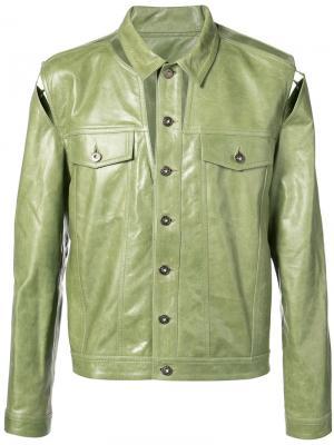 Классическая куртка Y / Project. Цвет: зелёный