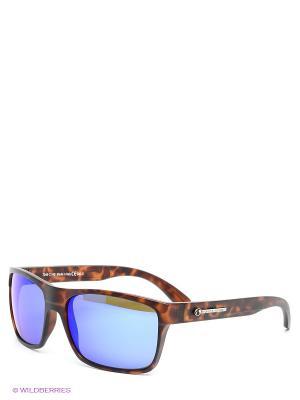 Солнцезащитные очки Franco Sordelli. Цвет: коричневый, синий
