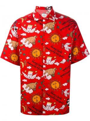 Рубашка с принтом Sport Jc De Castelbajac Vintage. Цвет: красный
