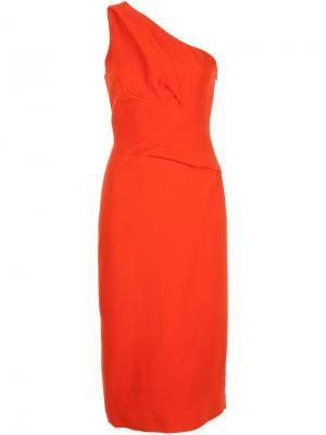 Платье на одно плечо Narciso Rodriguez. Цвет: красный