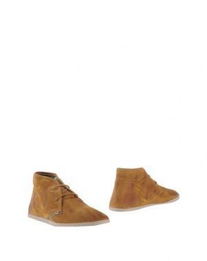 Полусапоги и высокие ботинки YAB. Цвет: верблюжий