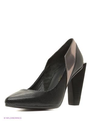 Туфли UNITED NUDE. Цвет: черный, серебристый