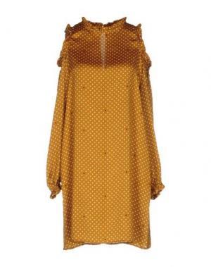 Короткое платье SOUVENIR. Цвет: охра