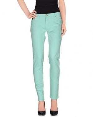 Повседневные брюки DUCK FARM. Цвет: светло-зеленый