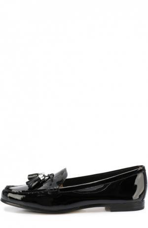 Лаковые лоферы Callahan с кисточками MICHAEL Kors. Цвет: черный