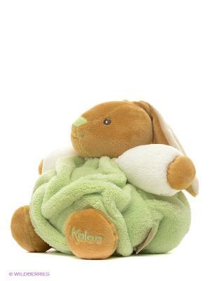 Заяц маленький зеленый, коллекция Плюм Kaloo. Цвет: зеленый