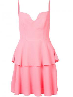 Sweetheart neck dress Black Halo. Цвет: розовый и фиолетовый