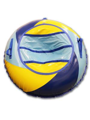 Тюбинг ТЕНТ-СИРАЛЬ Аквапарк, 100 см Belon. Цвет: синий, голубой, желтый