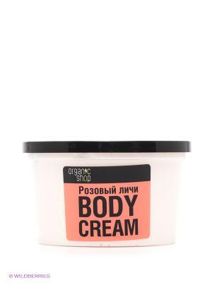 Крем для тела Розовый личи, 250 мл Organic Shop. Цвет: розовый