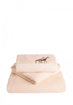 Комплект полотенец 3 шт. Bellehome. Цвет: бежевый