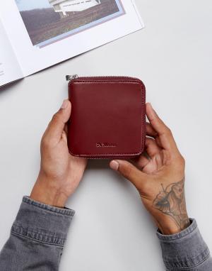 Dr Martens Кожаный кошелек на молнии. Цвет: красный