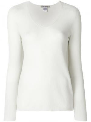 Легкий пуловер с длинными рукавами  La Fileria For Daniello D'aniello. Цвет: белый