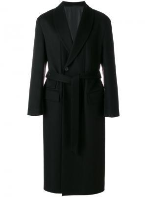 Пальто с поясом Wooyoungmi. Цвет: чёрный