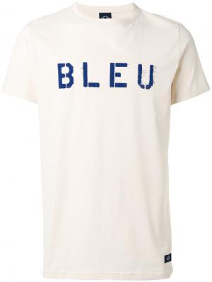 Футболка с принтом bleu De Paname. Цвет: телесный