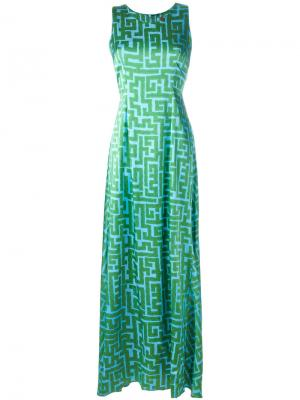 Printed maxi dress Ultràchic. Цвет: синий