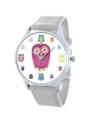 Дизайнерские часы Совы Tina Bolotina. Цвет: фуксия, розовый