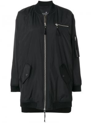 Куртка-бомбер Collin Designers Remix. Цвет: чёрный