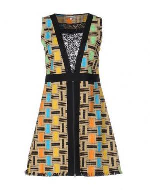 Короткое платье VANDA CATUCCI. Цвет: песочный