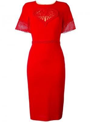 Приталенное платье Piccione.Piccione. Цвет: красный