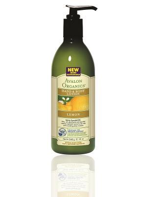 Лосьон для рук и тела с маслом лимона, 360 мл Avalon Organics. Цвет: белый