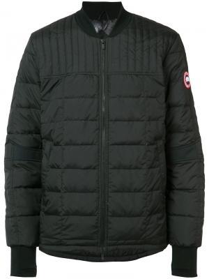 Стеганая куртка-бомбер Canada Goose. Цвет: чёрный