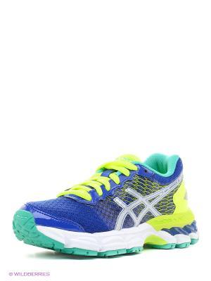 Спортивная обувь GEL-NIMBUS 18 GS ASICS. Цвет: синий, серый, желтый